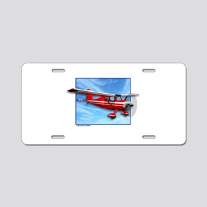 Single Engine Red Airplane Aluminum License Plate